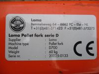 Loma D700 Palletdrager